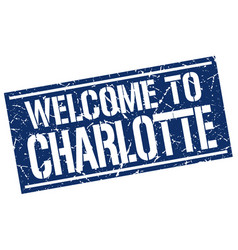 Welcome to charlotte stamp vector