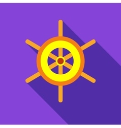 Wheel of ship icon flat style vector image