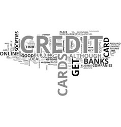 where can you get a credit card text word cloud vector image