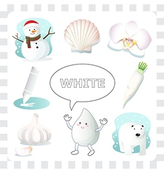 White color vector image vector image