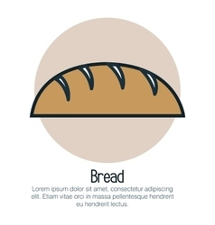 Bread bakery isolated icon vector