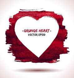 Grunge heart background vector image
