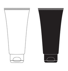 Toothpaste tube white blank cream container vector
