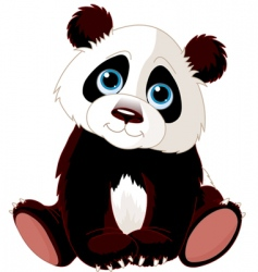 sitting panda vector image