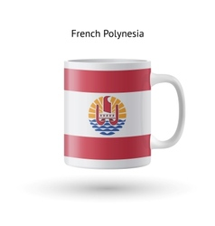 French polynesia flag souvenir mug on white vector