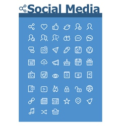 Social media icon set vector image
