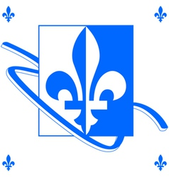 Quebec background vector