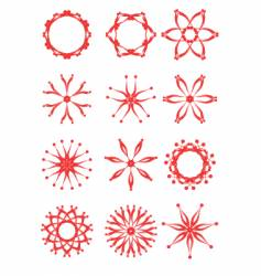 Set flowers vector