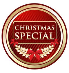 Christmas special gold label vector