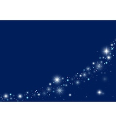 Blue Starry Christmas Background vector image