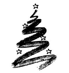 Christmas tree and star vector