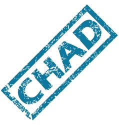 Chad rubber stamp vector