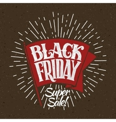 Black friday and light rays vector
