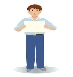 A man holding a message sign vector