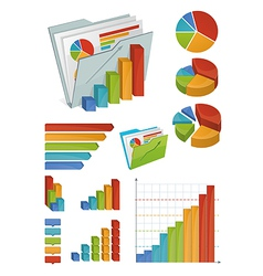 Icons and chart elements vector