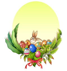 A colorful easter-designed border vector image