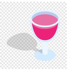 alcohol cocktail isometric icon vector image