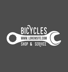 Bicycle retro badge vector