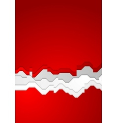 Bright red contrast background vector image vector image
