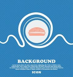 Burger hamburger sign blue and white abstract vector