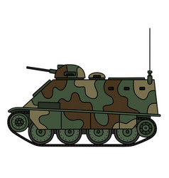 camouflaged armored vehicle vector image