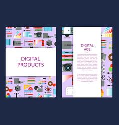 card template for digital art design vector image vector image