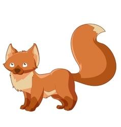 Cartoon little fox vector