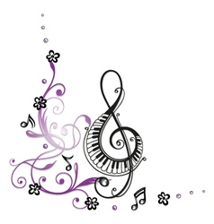 Clef music notes vector image