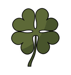 clover leaf isolated icon vector image vector image