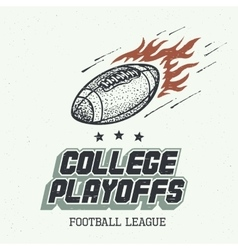 College playoffs hand-drawn vector