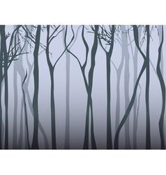 Dark fog forest vector