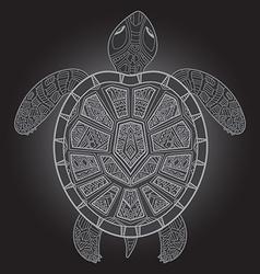Decorative graphic turtle tribal totem animal vector