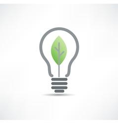 Eco bulb icon vector image vector image