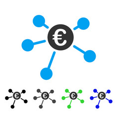 Euro links flat icon vector