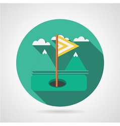 Flat icon for golf target flag vector image vector image