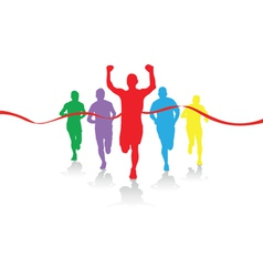 group of runners vector image vector image