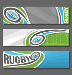 Horizontal banners for rugby vector