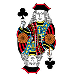 jack of clubs isolated french version vector image vector image