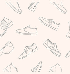 monochrome seamless pattern with various types of vector image vector image
