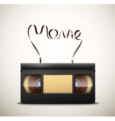 Movie on videotape vector image vector image