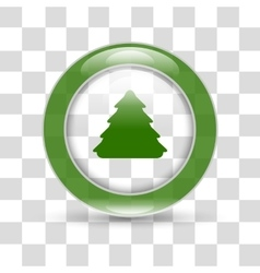 New year tree icon vector
