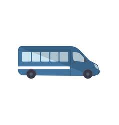 passenger van truck side view icon vector image vector image