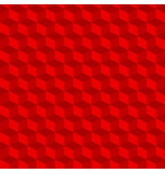 Red geometric seamless cubes pattern background vector image vector image