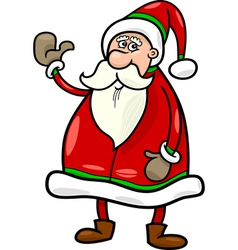 santa claus christmas cartoon vector image vector image