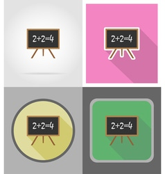 school education flat icons 05 vector image vector image