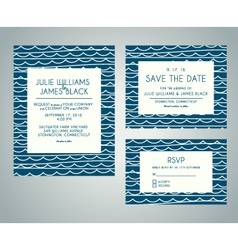 Set of wedding invitation cards with abstract vector