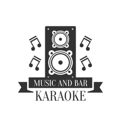 Stage speaker and music notes karaoke premium vector