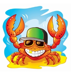 the funny crab vector image