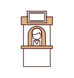 Theater box office icon vector
