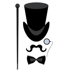 Top hat isolated vector
